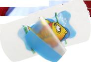 Kinderpflaster - transparenter Hintergrund