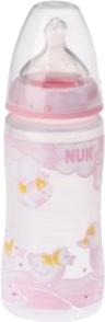 NUK Baby Rose Fläschchen 300 ml mit Milchsauger Größe 1