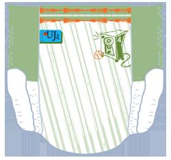 Pampers Underjams - Rückansicht (Beispiel 2)