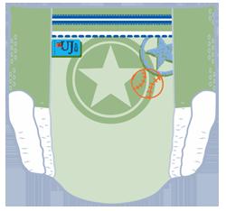 Pampers Underjams - Rückansicht (Beispiel 1)