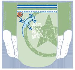 Pampers Underjams - Frontansicht (Beispiel 1)