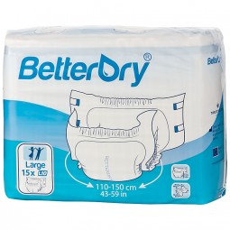 BetterDry Windeln mit Folie - L10