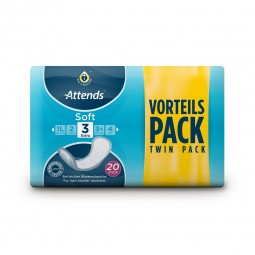 Attends Soft 3 Extra - Twin Pack - 20 Vorlagen