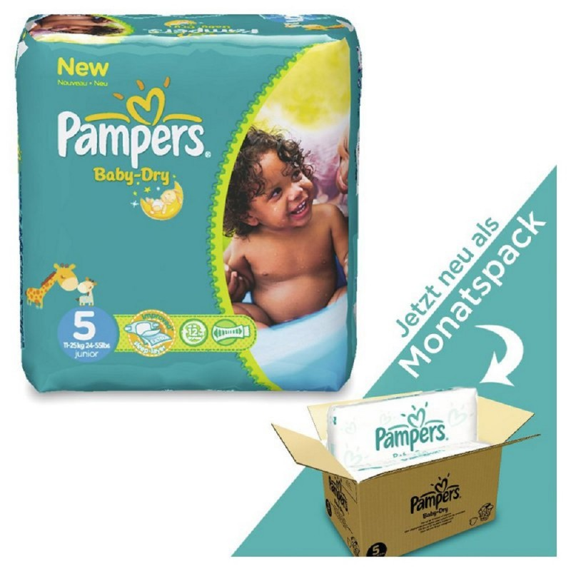 pampers baby dry monatspack